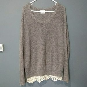 Anthropology pins&needle over size sweater size M